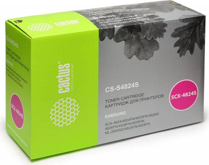 Cactus D20L CS-S4824S, Black тонер-картридж для Samsung SCX-4824FN/4828FN/ML-2855CS-S4824SТонер-картридж Cactus D20L CS-S4824S для лазерных принтеров Samsung SCX-4824FN, 4828FN, ML-2855 Расходные материалы Cactus для лазерной печати максимизируют характеристики принтера. Обеспечивают повышенную чёткость чёрного текста и плавность переходов оттенков серого цвета и полутонов, позволяют отображать мельчайшие детали изображения. Гарантируют надежное качество печати.