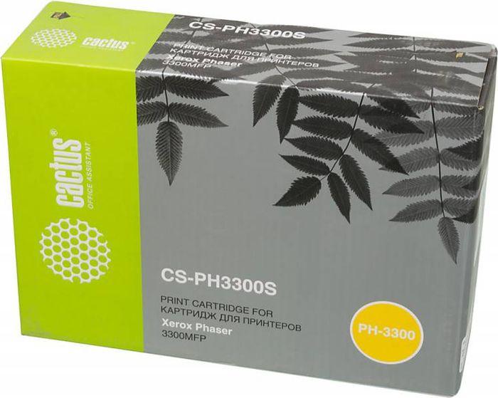 Cactus CS-PH3300S 106R01411, Black тонер-картридж для Xerox Phaser 3300CS-PH3300SТонер-картридж Cactus CS-PH3300S 106R01411 для лазерных принтеров Xerox Phaser 3300. Расходные материалы Cactus для лазерной печати максимизируют характеристики принтера. Обеспечивают повышенную чёткость чёрного текста и плавность переходов оттенков серого цвета и полутонов, позволяют отображать мельчайшие детали изображения. Гарантируют надежное качество печати.