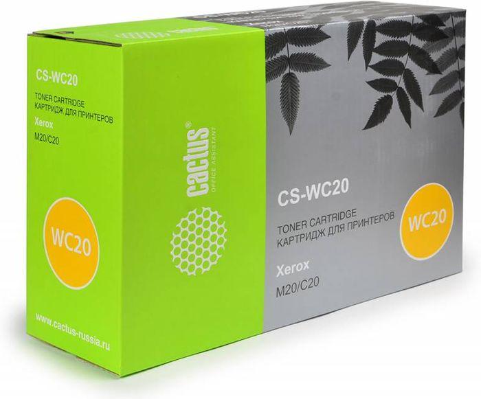 Cactus CS-WC20 106R01048, Black тонер-картридж для Xerox WorkCentre M20/CC C20CS-WC20Тонер-картридж Cactus CS-WC20 106R01048 для лазерных принтеров Xerox WorkCentre M20/CC C20. Расходные материалы Cactus для лазерной печати максимизируют характеристики принтера. Обеспечивают повышенную чёткость чёрного текста и плавность переходов оттенков серого цвета и полутонов, позволяют отображать мельчайшие детали изображения. Гарантируют надежное качество печати.