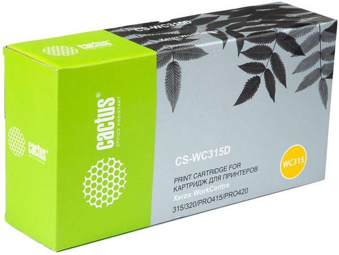 Cactus CS-WC315D 006R01044, Black тонер-картридж для Xerox WorkCentre 315/320/PRO415/PRO420CS-WC315DТонер-картридж Cactus CS-WC315D 006R01044 для лазерных принтеров Xerox WorkCentre 315/320/PRO415/PRO420. Расходные материалы Cactus для лазерной печати максимизируют характеристики принтера. Обеспечивают повышенную чёткость чёрного текста и плавность переходов оттенков серого цвета и полутонов, позволяют отображать мельчайшие детали изображения. Гарантируют надежное качество печати.