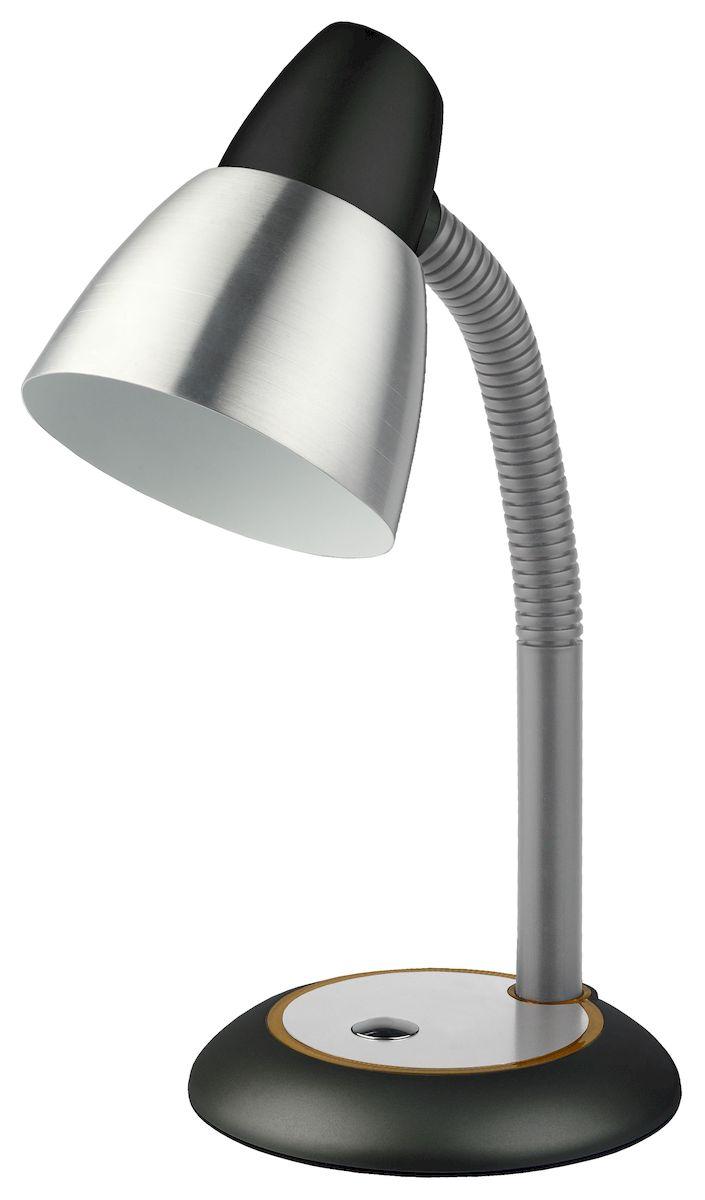 Настольный светильник ЭРА N-115-E27-40W-BK, цвет: черныйN-115-E27-40W-BKУстойчивое металлическое основание. Металлический плафон большого диаметра для комфортного рассеивания света. Выключатель на основании светильника. Направление света регулируется гибкой стойкой, которая обеспечивает наклон и поворот плафона в любом направлении. Классический дизайн.