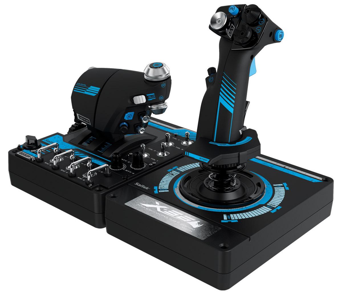 Saitek X56 Rhino H.O.T.A.S. Pro Flight System джойстик для PC (SCB432210002/01/1)