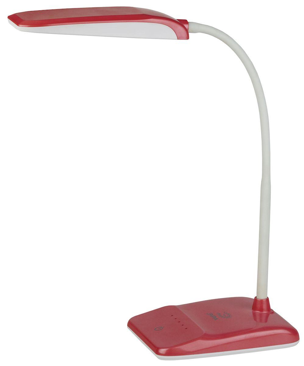 Настольный светильник ЭРА NLED-447-9W-R, цвет: красныйNLED-447-9W-RСветильник со светодиодами (LED) в качестве источников света, которые экономят до 90% электроэнергии и не требуют замены на протяжении всего срока службы светильника. Сенсорный переключатель на основании. Четырехступенчатый диммер для регулировки яркости. Высота плафона регулируется гибкой стойкой, направление света регулируется поворотом плафона в любом направлении. Теплый свет, аналогичный свету лампы накаливания - цветовая температура 3000К.