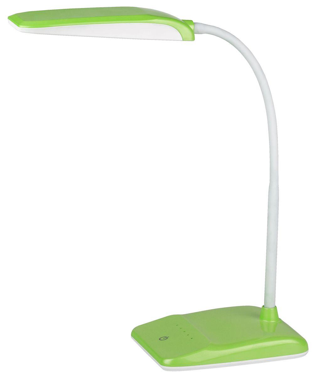 Настольный светильник ЭРА Фиксики. NLED-447-9W-GR, цвет: зеленыйNLED-447-9W-GRДизайн светильника и упаковка в тематике мультсериала Фиксики. Светильник со светодиодами (LED) в качестве источников света, которые экономят до 90% электроэнергии и не требуют замены на протяжении всего срока службы светильника. Сенсорный переключатель на основании. Четырехступенчатый диммер для регулировки яркости. Высота плафона регулируется гибкой стойкой, направление света регулируется поворотом плафона в любом направлении. Теплый свет, аналогичный свету лампы накаливания - цветовая температура 3000К.