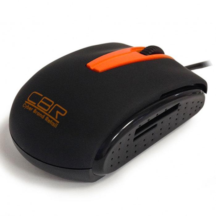CBR CM 344 мышьCM 344CBR CM 344 - это два устройства в одном: компьютерная мышь и картридер. Как мышь CBR CM 344 имеет самое современное техническое оснащение - оптический сенсор с разрешением 1200 dpi, колесо прокрутки с функцией нажатия. Как картридер устройство поддерживает основные типы карт SD, mini SD, micro SD, T-flash и другие, достигая впечатляющей скорости обмена данными в 48 Мб/сек. CBR CM 344 станет отличным спутником во всех поездках - во-первых, благодаря своим компактным размерам, а во-вторых, потому что не только мышь, но и картидер всегда будет под рукой, и в-третьих, потому что в вашем ноутбуке будет задействован только один USB-порт. В дизайне устройства используется классическое сочетание черного и оранжевого, покрытие софт-тач и глянцевые боковые вставки с перфорацией для более уверенного обхвата.