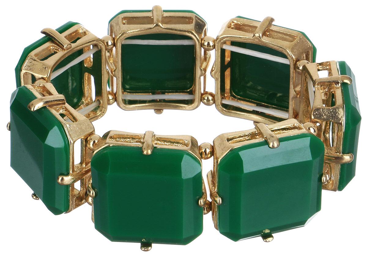 Браслет женский Taya, цвет: зеленый. T-B-6276-BRAC-GL.EMERALDT-B-6276-BRAC-GL.EMERALDБраслет Taya выполнен из бижутерного сплава и пластика ярких цветов. Объемная фактура элементов на резинке делает женское запястье нежным и хрупким. Красивое и необычное украшение блестяще подчеркнет изысканный вкус, женственность и красоту своей обладательницы и поможет внести разнообразие в привычный образ.
