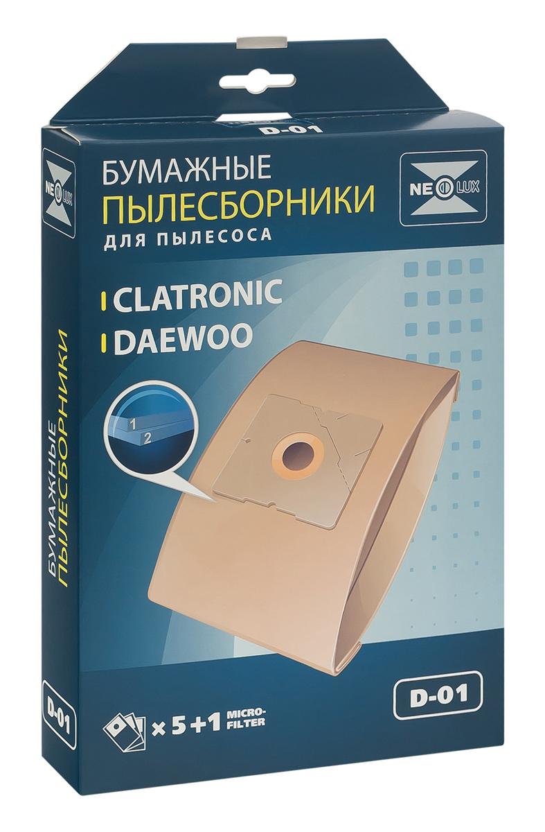 Neolux D-01 бумажный пылесборник (5 шт) + микрофильтрD-01Пылесборники Neolux D-01 предназначены для пылесосов Samsung, Daewoo, Bork, Clatronic, Scarlett. Изготовлены из двухслойной фильтровальной бумаги. Обеспечивают идеальное качество уборки. В комплект входит универсальный фильтр защиты двигателя размером 125х195 мм. Совместимые модели: Samsung SC 31, SC 51, SC 52, SC 53, SC 54, VC 61, VC/SC 69, SC 70, SC 72, SC 75 Daewoo Compakt, Koala, RC 103 - RC 110, RC 160, RC 161, RC 170 - RC 173, RC 190 - RC 193, RC 200, RC 202, RC 205, RC 209, RC 210, RC 405 - RC 407, RC 450, RC 505, RC 550, RC 605 - RC 609, RC 705, RC 707, RC 805, RC 1504, RC 2006, RC 2200 - RC 2202, RC 2205, RC 2230, RC 2400, RC 2500, RC 3001, RC 3106, RC 5001, RC 6016, RC 7001, RC 7004, RC 8200, RC 8500, RC 8600, RCP 1000, RCP 1008, VC 6714, VC 7114 Bork: VC 2516, VC 3119, VC 3216, VC 5317, VC 6514, VC 7516, VC 8022 Clatronic: BS 1204, BS 1205, BS 1211, BS 1215, BS 1219, BS 1220, BS 1221, BS 1223, BS 1225, BS 1226 ...