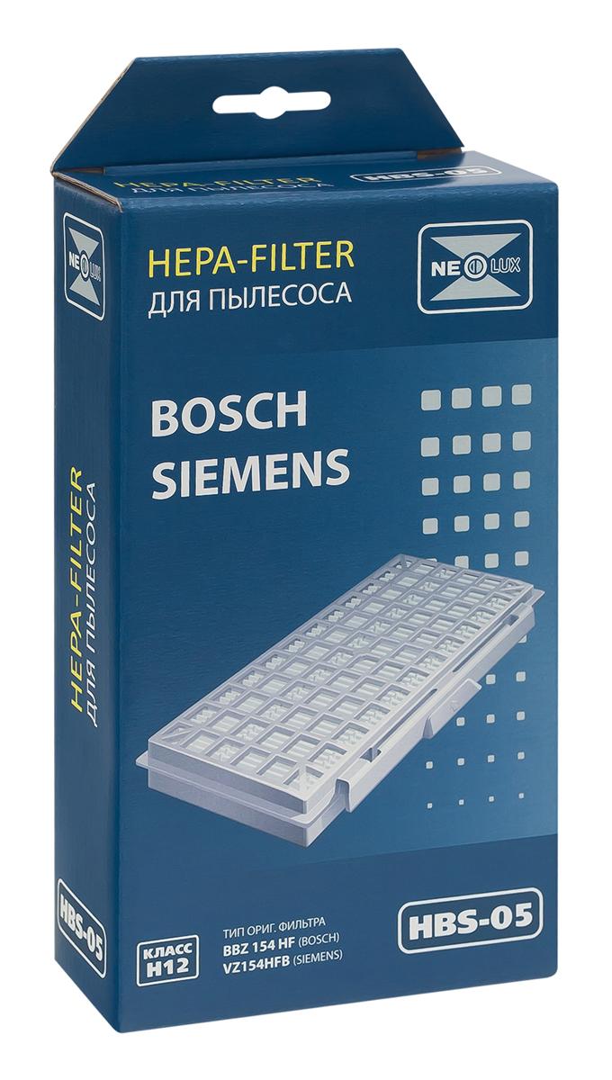 Neolux HBS-05 HEPA-фильтр для пылесоса BoschHBS-05HEPA фильтр Neolux HBS-05 предназначен для пылесосов Bosch серии BSG5..., для пылесосов Siemens серии VS05G... Код оригинального фильтра BBZ 154 HF, VZ 154 HFB