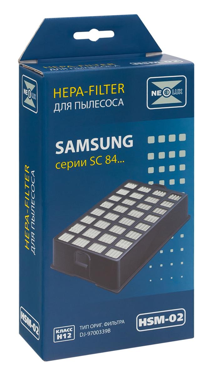 Neolux HSM-02 HEPA-фильтр для пылесоса SamsungHSM-02HEPA фильтр Neolux HSM-02 предназначен для пылесосов SAMSUNG серии SC84.. Код оригинального фильтра DJ97-00339A