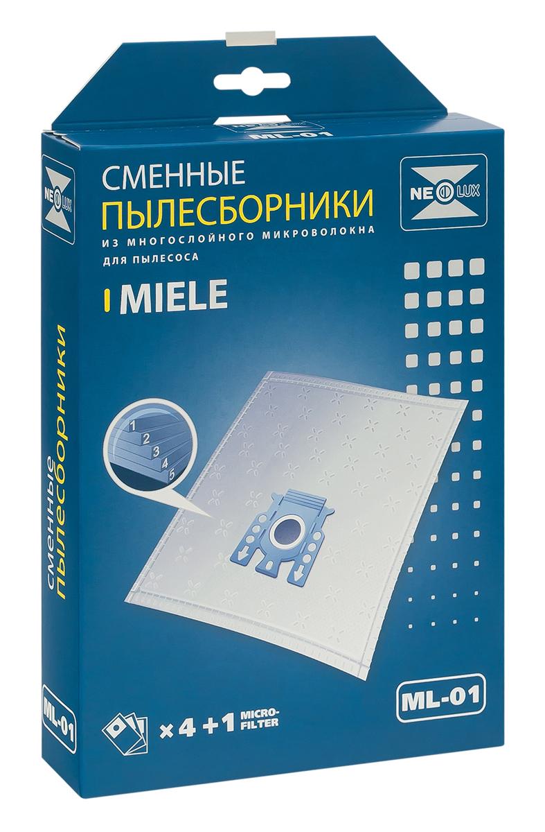 Neolux ML-01 пылесборник из пятислойного микроволокна (4 шт) + микрофильтрML-01Пылесборники Neolux ML-01 ( тип F, J, M) предназначены для пылесосов Miele. Изготовлены из пятислойного микроволокна и содержат 2 слоя Meltblown, которые и являются основными фильтрующими элементами. Задерживают 99,9 % пыли, идеальны для людей, страдающих аллергией. Не боятся случайного попадания влаги и острых предметов. Служат в 1,5 раза дольше бумажных пылесборников. Продлевают срок службы двигателя пылесоса. Сокращают время уборки за счет сохранения мощности двигателя пылесоса. В комплект входит универсальный фильтр защиты двигателя размером 125х195 мм.