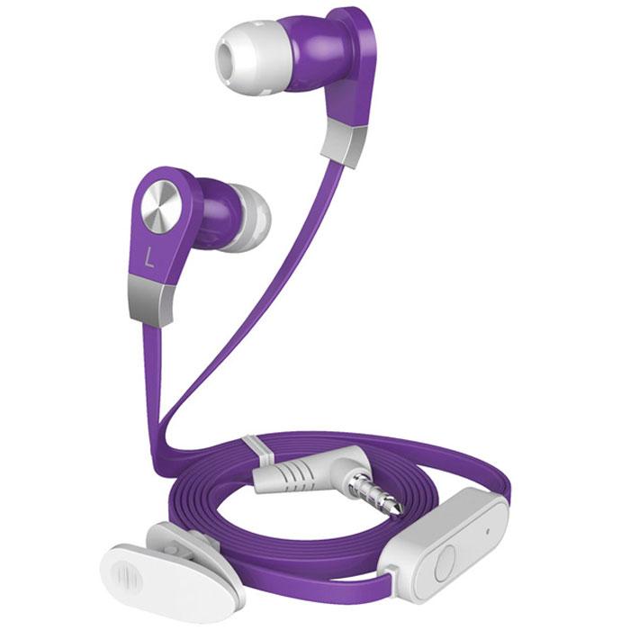 Harper HV-103, Purple наушникиHV-103 purpleHarper HV-103 - компактные и недорогие внутриканальные наушники с функцией гарнитуры. Кабель длиной 1,2 метра идеально подходит для использования на улице. Встроенный пульт и микрофон предназначен для быстрого переключения между музыкой и вызовами. L-образный штекер для прочности и долговечности кабеля. В комплект входят мягкие силиконовые накладки 3 размеров для максимального комфорта.