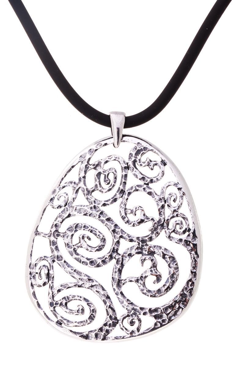 Кулон женский Jenavi Узорио, цвет: серебро. k4323990k4323990Коллекция Витраж, Узорио (Кулон) гипоаллергенный ювелирный сплав,Черненое серебро, вставка без вставок, цвет - серебро