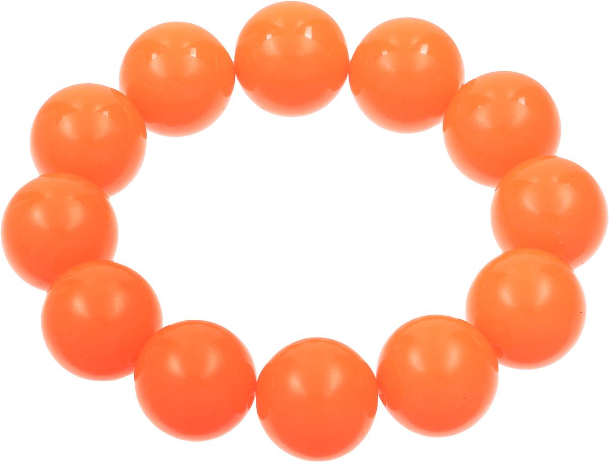 Браслет Kawaii Factory, цвет: оранжевый. KW090-000157KW090-000157Яркий браслет от Kawaii Factory напомнит вам о теплых летних днях. Это универсальное украшение подойдет как к дневному повседневному наряду, так и к праздничному вечернему образу, а также станет не менее эффектным дополнением наряда в спортивном стиле. Браслет выполнен из крупных пластиковых бусин на мягкой резинке. Это симпатичное украшение с круглыми шариками похоже на яркие конфеты. Добавьте своему образу яркость и легкость, чтобы насладиться ощущением исключительности. Красивый браслет от Kawaii Factory подарит вам возможность быть особенной.