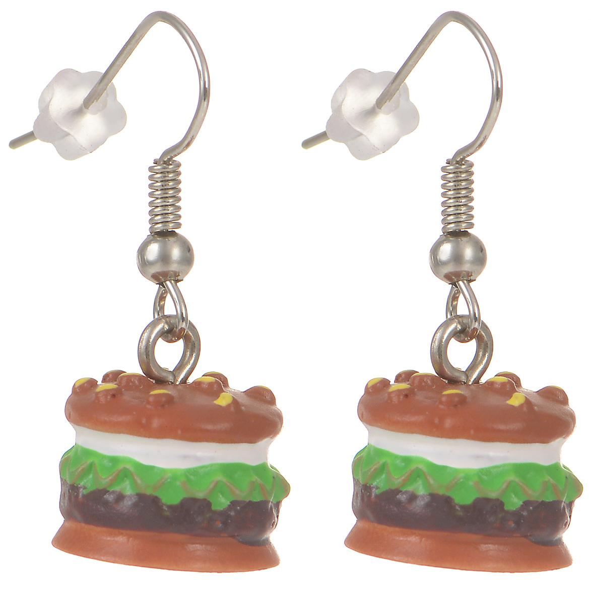 Серьги Kawaii Factory Гамбургер, цвет: коричневый. KW092-000173KW092-000173Милые серьги Гамбургер от Kawaii Factory помогут разнообразить серые будни и непременно поднимут настроение! Серьги выполнены из полимерной глины и снабжены удобными замочками-петлями. Небольшой размер позволяет сочетать их с другими украшениями, а яркий цвет и оригинальный дизайн выделят своего обладателя из толпы и привлекут внимание. При взгляде на такое украшение сразу появляется аппетит и утренний заряд бодрости.