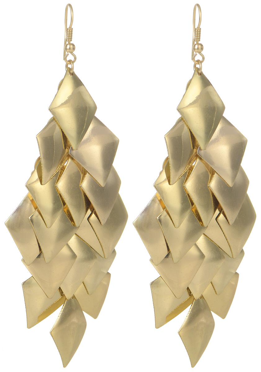 Серьги Kawaii Factory Golden Leaf, цвет: золотой. KW092-000116KW092-000116Оригинальные серьги Golden Leaf от Kawaii Factory выполнены из металлического сплава в виде золотых листиков и оснащены удобными застежками-петлями, позволяющими максимально комфортно и быстро снимать изделие. Привлекательный необычный дизайн, приятный золотой цвет и легкий материал сделают серьги в виде листочка незаменимым аксессуаром вашего гардероба. Они достаточно длинные и будут отлично смотреться к платью или сарафану, позволят создать милый романтичный образ.