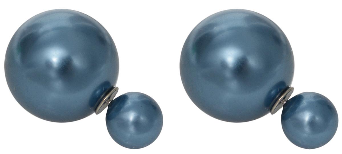 Серьги Kawaii Factory Caramel, цвет: синий металлик. KW092-000155KW092-000155Серьги-пуссеты насыщенного цвета - идеальное украшение, для дополнения повседневного или праздничного образа. Они великолепно смотрятся на каждой женщине. Серьги выполнены из пластика и металла, оснащены удобной застежкой-гвоздиком. Изделия изготовлены с применением качественных материалов, поэтому прослужат своей обладательнице долгие годы. Композиция выполнена из двух миниатюрных бусин круглой формы, отличающихся друг от друга по размеру. Пуссеты внесут в образ яркие краски и непременно поднимут настроение. Такие украшения способны выделить свою обладательницу из толпы.