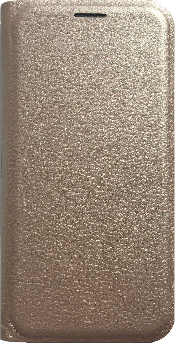 Acqua Wallet Extra чехол для Samsung Galaxy S7, Gold53843Чехол-книжка Acqua Wallet Extra для Samsung Galaxy S7 создан из высококачественных материалов. На внутренней стороне чехла имеется карман для пластиковых карт. Чехол надежно защитит ваш телефон от царапин, сколов и незначительных механических повреждений. Он также обеспечивает свободный доступ ко всем функциональным кнопкам смартфона и камере.