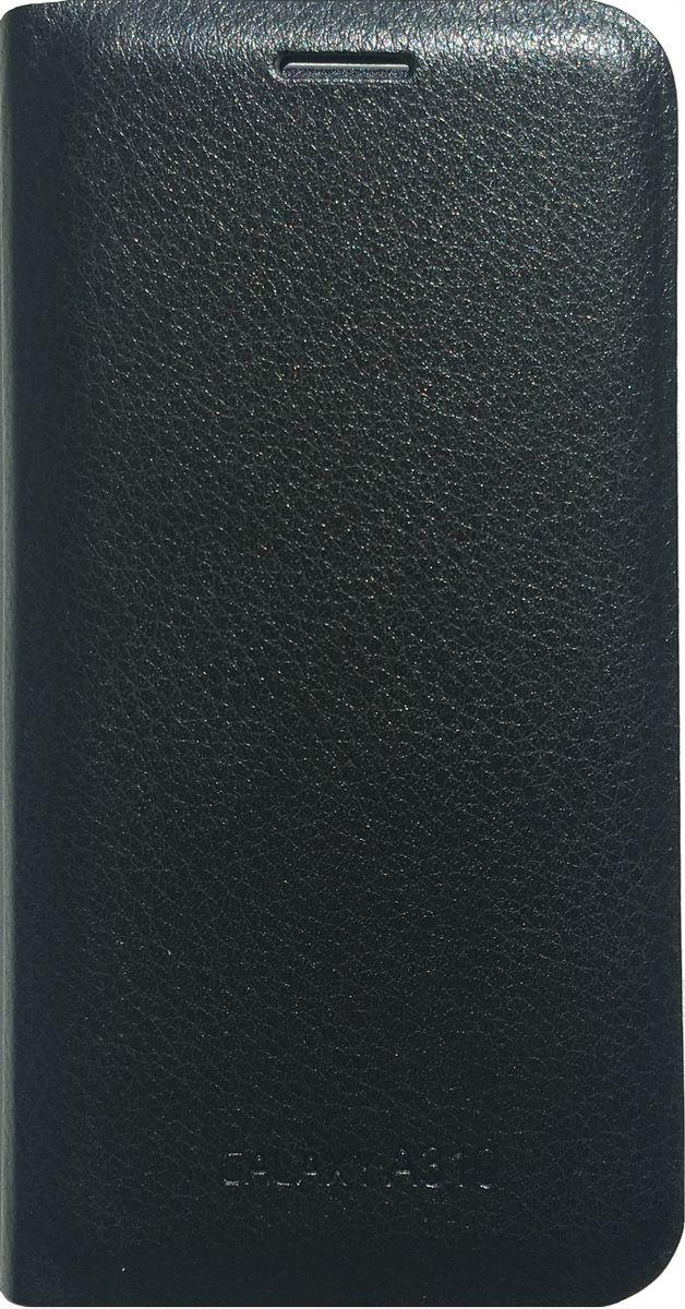 Acqua Wallet Extra чехол для Samsung Galaxy A3, Black53920Чехол-книжка Acqua Wallet Extra для Samsung Galaxy A3 создан из высококачественных материалов. На внутренней стороне чехла имеется карман для пластиковых карт. Чехол надежно защитит ваш телефон от царапин, сколов и незначительных механических повреждений. Он также обеспечивает свободный доступ ко всем функциональным кнопкам смартфона и камере.