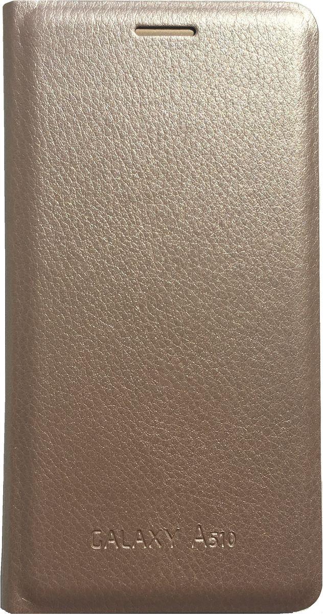 Acqua Wallet Extra чехол для Samsung Galaxy A5, Gold53923Чехол-книжка Acqua Wallet Extra для Samsung Galaxy A5 создан из высококачественных материалов. На внутренней стороне чехла имеется карман для пластиковых карт. Чехол надежно защитит ваш телефон от царапин, сколов и незначительных механических повреждений. Он также обеспечивает свободный доступ ко всем функциональным кнопкам смартфона и камере.