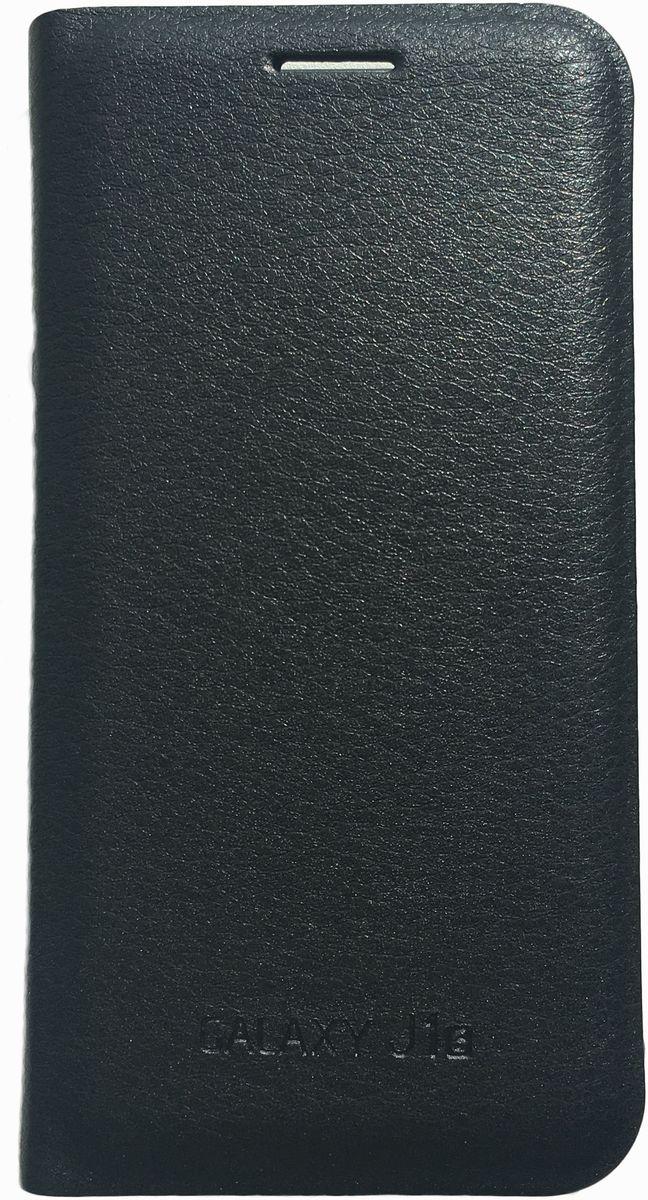 Acqua Wallet Extra чехол для Samsung Galaxy J1, Black53926Чехол-книжка Acqua Wallet Extra для Samsung Galaxy J1 создан из высококачественных материалов. На внутренней стороне чехла имеется карман для пластиковых карт. Чехол надежно защитит ваш телефон от царапин, сколов и незначительных механических повреждений. Он также обеспечивает свободный доступ ко всем функциональным кнопкам смартфона и камере.