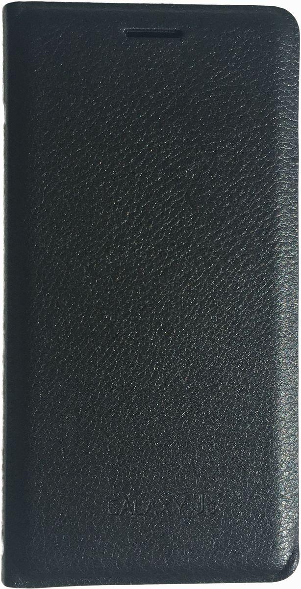 Acqua Wallet Extra чехол для Samsung Galaxy J3, Black53930Чехол-книжка Acqua Wallet Extra для Samsung Galaxy J3 создан из высококачественных материалов. На внутренней стороне чехла имеется карман для пластиковых карт. Чехол надежно защитит ваш телефон от царапин, сколов и незначительных механических повреждений. Он также обеспечивает свободный доступ ко всем функциональным кнопкам смартфона и камере.