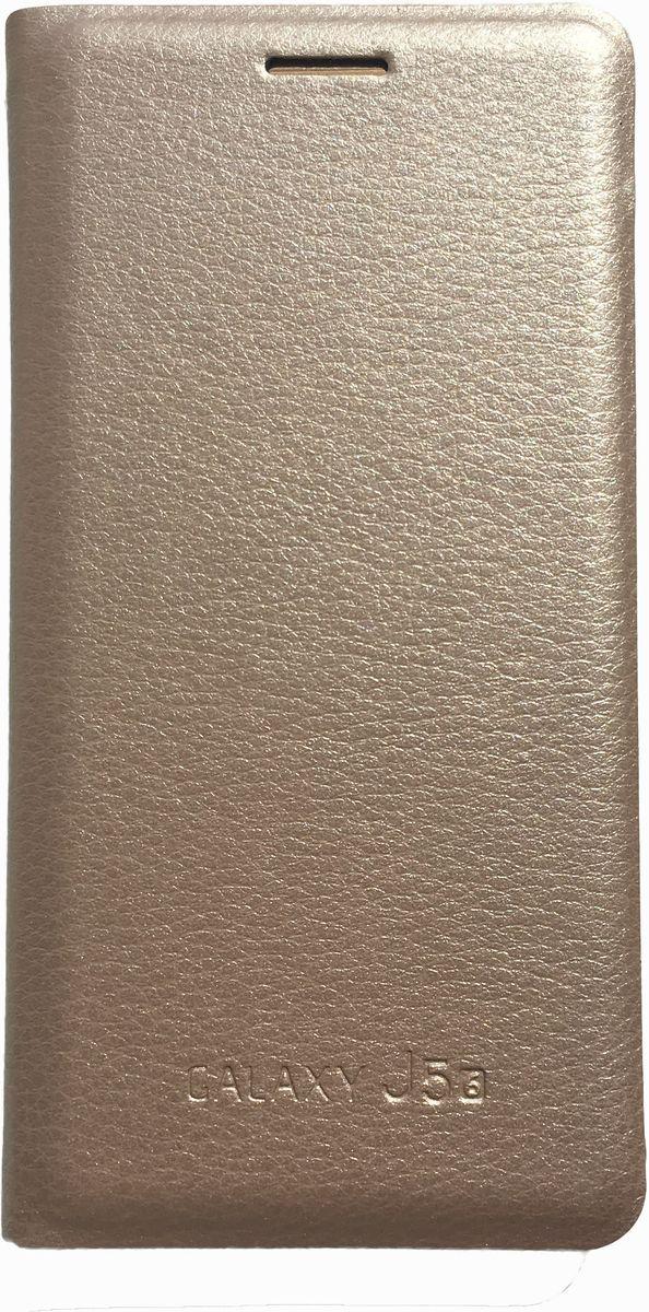 Acqua Wallet Extra чехол для Samsung Galaxy J5, Gold54289Чехол-книжка Acqua Wallet Extra для Samsung Galaxy J5 создан из высококачественных материалов. На внутренней стороне чехла имеется карман для пластиковых карт. Чехол надежно защитит ваш телефон от царапин, сколов и незначительных механических повреждений. Он также обеспечивает свободный доступ ко всем функциональным кнопкам смартфона и камере.