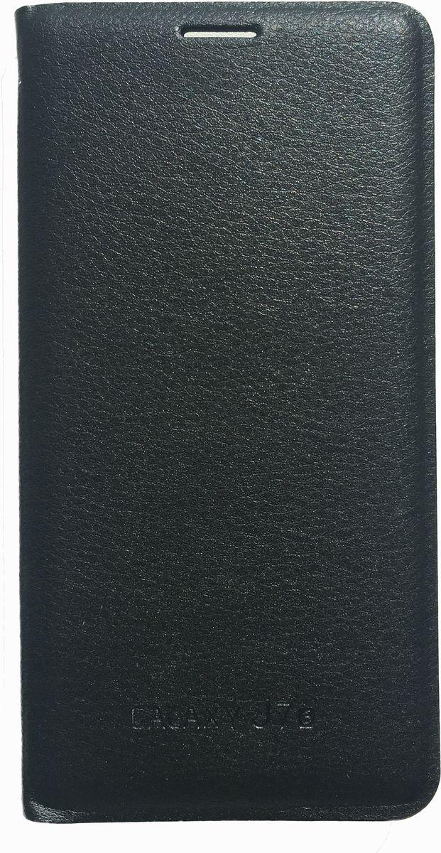 Acqua Wallet Extra чехол для Samsung Galaxy J7, Black54291Чехол-книжка Acqua Wallet Extra для Samsung Galaxy J7 создан из высококачественных материалов. На внутренней стороне чехла имеется карман для пластиковых карт. Чехол надежно защитит ваш телефон от царапин, сколов и незначительных механических повреждений. Он также обеспечивает свободный доступ ко всем функциональным кнопкам смартфона и камере.