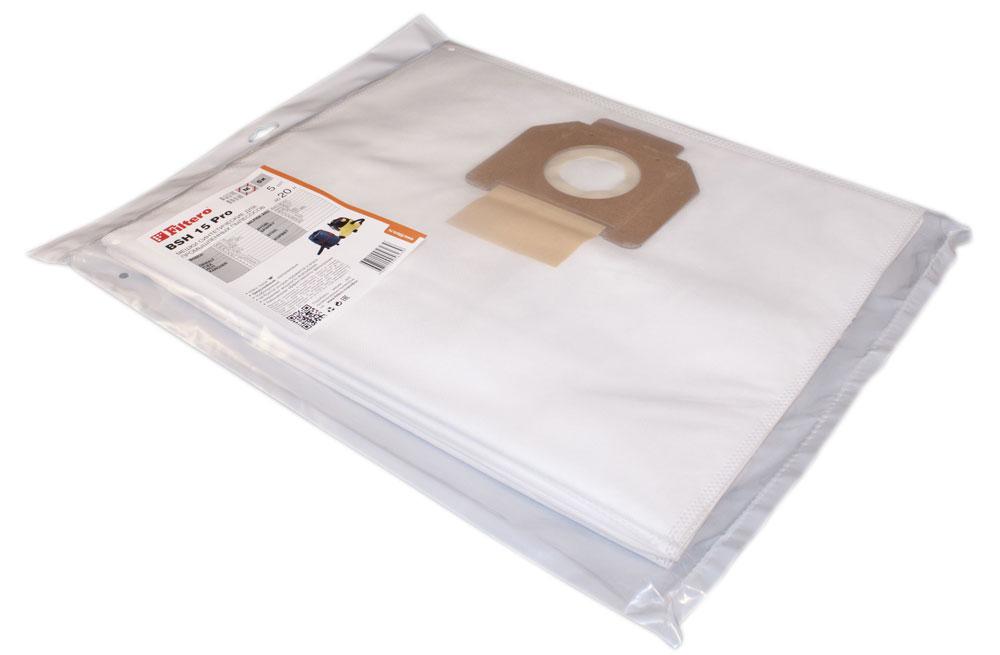 Filtero BSH 15 Pro комплект пылесборников для промышленных пылесосов, 5 штBSH 15 (5) ProМешки для промышленных пылесосов Filtero BSH 15 Pro, трехслойные, произведены из синтетического микроволокна MicroFib. Прочность синтетических мешков Filtero BSH 15 Pro превосходит любые бумажные мешки- аналоги, даже если это оригинальные бумажные мешки всемирно известных марок. Вы можете быть уверены: заклепки, гвозди, шурупы, битое стекло, острые камни и прочее не смогут прорвать мешки Filtero Pro. Мешки Filtero Pro не боятся влаги, и даже вода, попавшая в мешок, не помешает вам произвести качественную уборку! Подходят для следующих моделей пылесосов: BOSCH: GAS 15 GAS 1200 L GAS 20 L SFC DEWALT: D 27900 FLEX: VC 21 L HILTI: VC 20 U NILFISK-Alto: Aero 20-01 Aero 20-11 Multi 20 T RYOBI: VC 20 SPARKY: VC 1220 VC 1321 MS STIHL: SE 61 SE 62 КОРВЕТ: 362