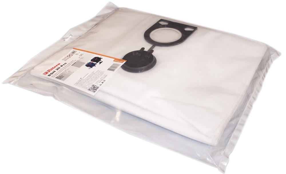 Filtero BSH 20 Pro комплект пылесборников для промышленных пылесосов, 5 штBSH 20 (5) ProМешки для промышленных пылесосов Filtero BSH 20 Pro, трехслойные, произведены из синтетического микроволокна MicroFib. Прочность синтетических мешков Filtero BSH 20 Pro превосходит любые бумажные мешки-аналоги, даже если это оригинальные бумажные мешки всемирно известных марок. Вы можете быть уверены: заклепки, гвозди, шурупы, битое стекло, острые камни и прочее не смогут прорвать мешки Filtero Pro. Мешки Filtero Pro не боятся влаги, и даже вода, попавшая в мешок, не помешает вам произвести качественную уборку! Подходят для следующих моделей пылесосов: AEG: RSE 1400 BOSCH: GAS 25 L SFC FELISATTI: VC 25 HITACHI: RNT 1225 METABO: ASR 2025 ASR 25 L ASR 35 L ASR 35 M STARMIX: IS ... 1225 ISC ... 1425