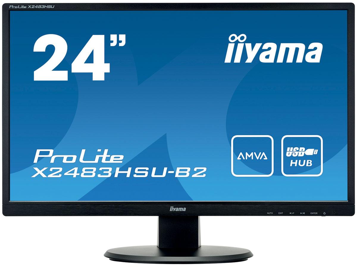 iiyama X2483HSU-B2, Black мониторX2483HSU-B2Iiyama X2483HSU-B2 - высококачественный 24-дюймовый Full HD-дисплей, оснащенный светодиодной подсветкой и панелью AMVA, гарантирующей точное и последовательное воспроизведение цвета с широкими углами обзора. Уровень динамического контраста этой модели превышает 12 000 000:1, а время отклика пикселей составляет 4 мс, что позволяет монитору демонстрировать отличное качество изображения. Монитор имеет сертификаты TCO и Energy Star. Модель идеально подойдет для образовательных, государственных, бизнес- структур и финансовых организаций. Технология AMVA превосходит стандартную TN технологию по таким параметрам как: уровень контрастности, глубина черного цвета и угол обзора. Качество изображения на экране практически не зависит от угла обзора. Нет мерцания + подавление синего - отличное решение для комфорта и здоровья ваших глаз. Немерцающие мониторы с функцией подавления синего цвета. И уровень синего цвета, воспроизводимого экраном и влияющего на...