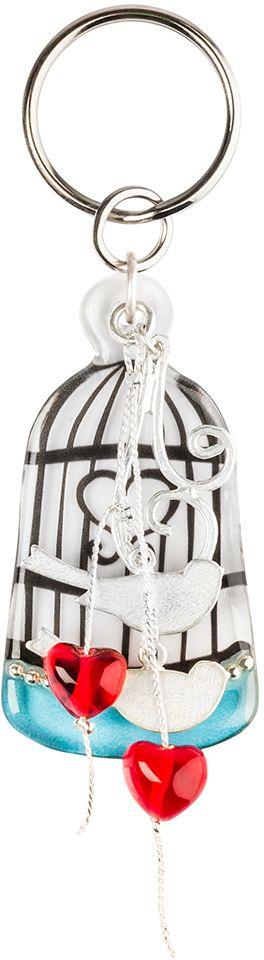Брелок Lalo Treasures, цвет: бирюзовый, серебристый. KR4962KR4962Брелок Lalo Treasures изготовлен из ювелирной смолы ярких цветов. Он выполнен в виде клетки и декорирован металлическими птичками. Оригинальный брелок подчеркнет вашу индивидуальность, а также станет отличным подарком для любительниц модных новинок в мире аксессуаров.