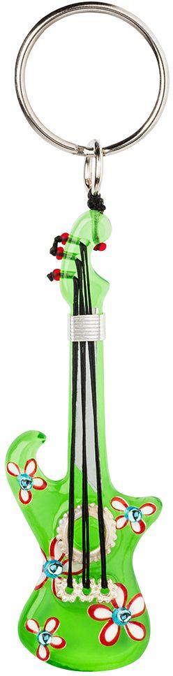 Брелок Lalo Treasures, цвет: салатовый. KR4964KR4964Брелок Lalo Treasures изготовлен из ювелирной смолы ярких цветов. Он выполнен в виде гитары и крепится к кольцу с помощью крепкого шнурка. Оригинальный брелок подчеркнет вашу индивидуальность, а также станет отличным подарком для любительниц модных новинок в мире аксессуаров.