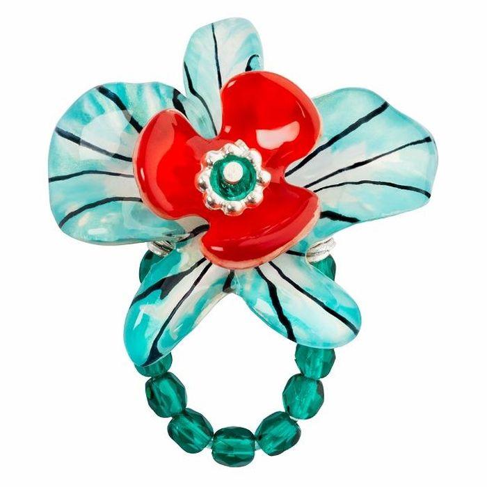Кольцо Lalo Treasures G&G, цвет: светло-бирюзовый, коралловый. R6966mR6966mИзысканное кольцо оригинального дизайна Lalo Treasures изготовлено из ювелирной смолы ярких цветов. Изделие выполнено в виде утонченного цветка. Скругленные углы элемента идеально подходят для нежных женских пальцев - изящество и сама элегантность. Очень винтажно смотрится на руке. Кольцо Lalo подчеркнет вашу утонченность и изысканный вкус. Изделие регулируется по размеру.