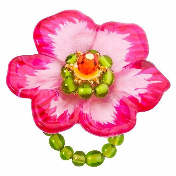 Кольцо Lalo Treasures G&G, цвет: розовый, зеленый. R6969mR6969mИзысканное кольцо оригинального дизайна Lalo Treasures изготовлено из ювелирной смолы ярких цветов. Изделие выполнено в виде утонченного цветка. Скругленные углы элемента идеально подходят для нежных женских пальцев - изящество и сама элегантность. Очень винтажно смотрится на руке. Кольцо Lalo подчеркнет вашу утонченность и изысканный вкус. Изделие регулируется по размеру.