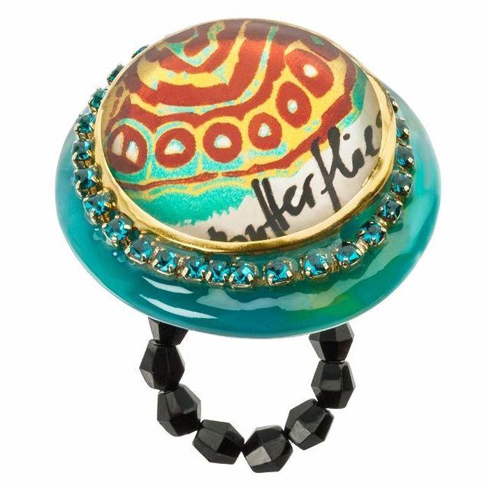 Кольцо Lalo Treasures G&G, цвет: золотистый, бирюзовый. R6978mR6978mИзысканное кольцо оригинального дизайна Lalo Treasures изготовлено из ювелирной смолы ярких цветов. Скругленные углы элемента идеально подходят для нежных женских пальцев - изящество и сама элегантность. Очень винтажно смотрится на руке. Кольцо Lalo подчеркнет вашу утонченность и изысканный вкус. Изделие регулируется по размеру.