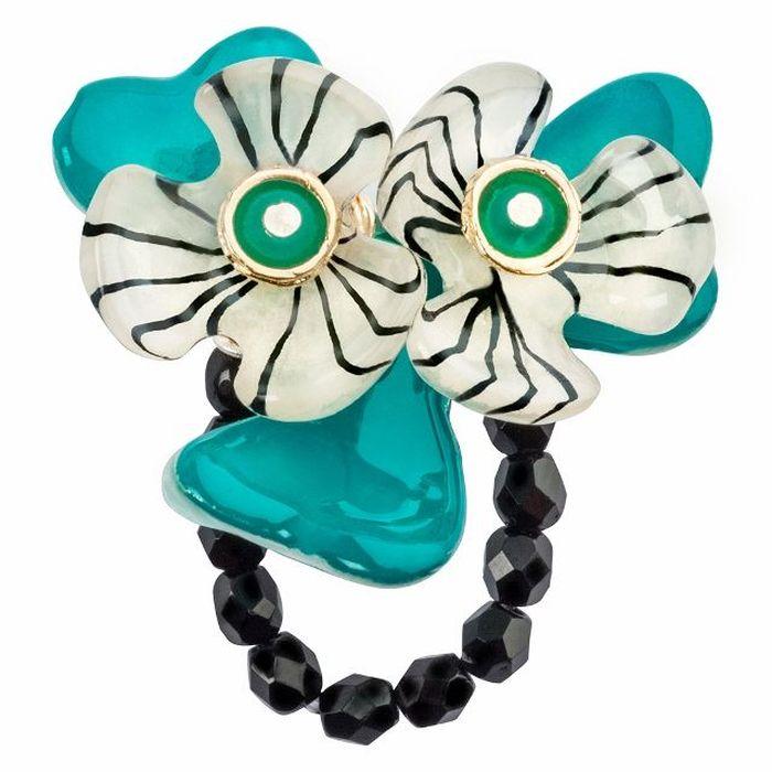 Кольцо Lalo Treasures G&G, цвет: морской волны, золотистый. R6981mR6981mИзысканное кольцо оригинального дизайна Lalo Treasures изготовлено из ювелирной смолы ярких цветов. Изделие выполнено в виде утонченного цветка. Скругленные углы элемента идеально подходят для нежных женских пальцев - изящество и сама элегантность. Очень винтажно смотрится на руке. Кольцо Lalo подчеркнет вашу утонченность и изысканный вкус. Изделие регулируется по размеру.