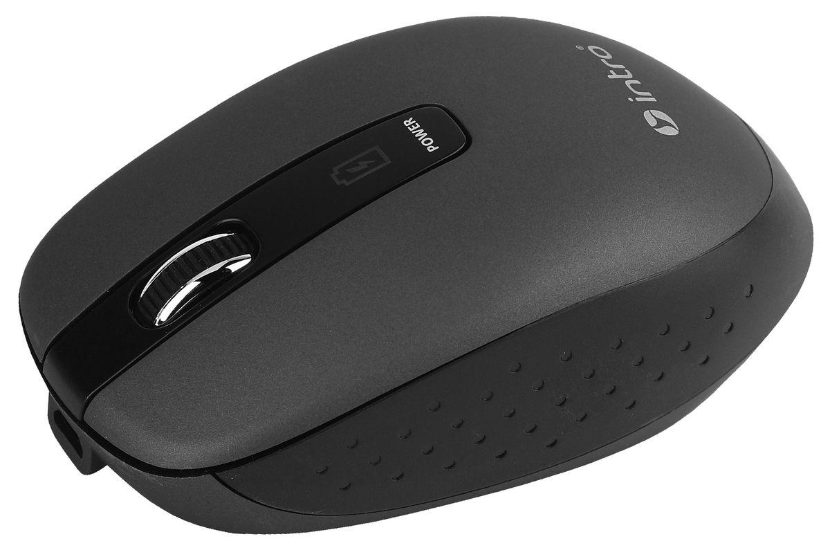 Intro MW540 Wireless, Black беспроводная мышьMW540Важной особенностью Intro MW540 Wireless является возможность зарядки аккумулятора мыши без прекращения работы. В комплекте устройства идет USB-кабель, с помощью которого можно подключать мышь к USB-порту компьютера для подзарядки и при этом продолжать работу. На время зарядки мышь временно превращается в хвостатую. Эргономичный дизайн корпуса разработан для продолжительной работы без ощущения усталости. Радиус действия беспроводной связи составляет 10 метров, что обеспечивает большую свободу действий. Intro MW540 Wireless может работать практически на любой поверхности. Оптический сенсор обеспечивает максимально точное позиционирование курсора.