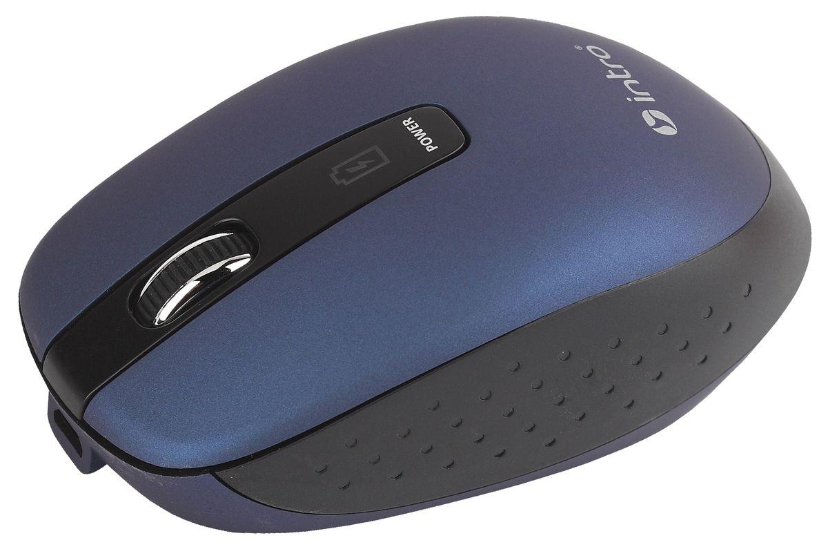 Intro MW540 Wireless, Blue беспроводная мышьMW540Важной особенностью Intro MW540 Wireless является возможность зарядки аккумулятора мыши без прекращения работы. В комплекте устройства идет USB-кабель, с помощью которого можно подключать мышь к USB-порту компьютера для подзарядки и при этом продолжать работу. На время зарядки мышь временно превращается в хвостатую. Эргономичный дизайн корпуса разработан для продолжительной работы без ощущения усталости. Радиус действия беспроводной связи составляет 10 метров, что обеспечивает большую свободу действий. Intro MW540 Wireless может работать практически на любой поверхности. Оптический сенсор обеспечивает максимально точное позиционирование курсора.