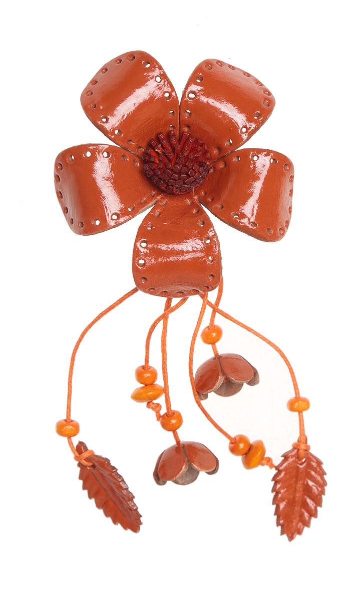 Брошь Осенний цветок. Натуральная кожа, ручная работа. Гонконгpokka-3516-2-1Брошь Осенний цветок. Натуральная кожа, ручная работа. Гонконг. Размер - 13 х 6 см. Тип крепления - булавка с застежкой.