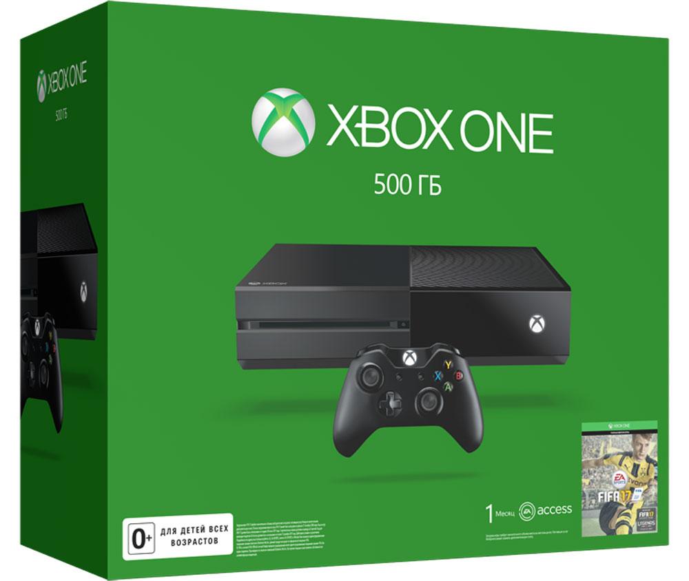 Игровая приставка Xbox One 500 ГБ + FIFA 175C7-00281Xbox One - игровая консоль компании Microsoft c лучшими играми и самым продвинутым мультиплеером за всю историю Xbox. Благодаря регулярным обновлениям и улучшениям Xbox One дает больше возможностей в любимых играх. С помощью стриминга можно играть в игры с Xbox One на любом домашнем ПК или планшете с Windows 10. Беспроводной геймпад Xbox One дает бесподобные ощущения, точность и комфорт. Импульсные триггеры обеспечивают вибрационную обратную связь, так что вы почувствуете малейшую тряску и столкновения с высочайшей точностью. Отзывчивые мини-джойстики и усовершенствованная крестовина повышают точность. К стандартному 3,5-мм стереогнезду можно подключить любую совместимую гарнитуру. Геймпад совместим с Xbox One, а также ПК и планшетами с Windows 10. 4 причины купить Xbox One: Лучшая линейка игр в истории Xbox. Играйте в такие эксклюзивы, как Halo 5: Guardians, Forza Motorsport 6, Gears of War: Ultimate Edition и Quantum Break. Приобретите...