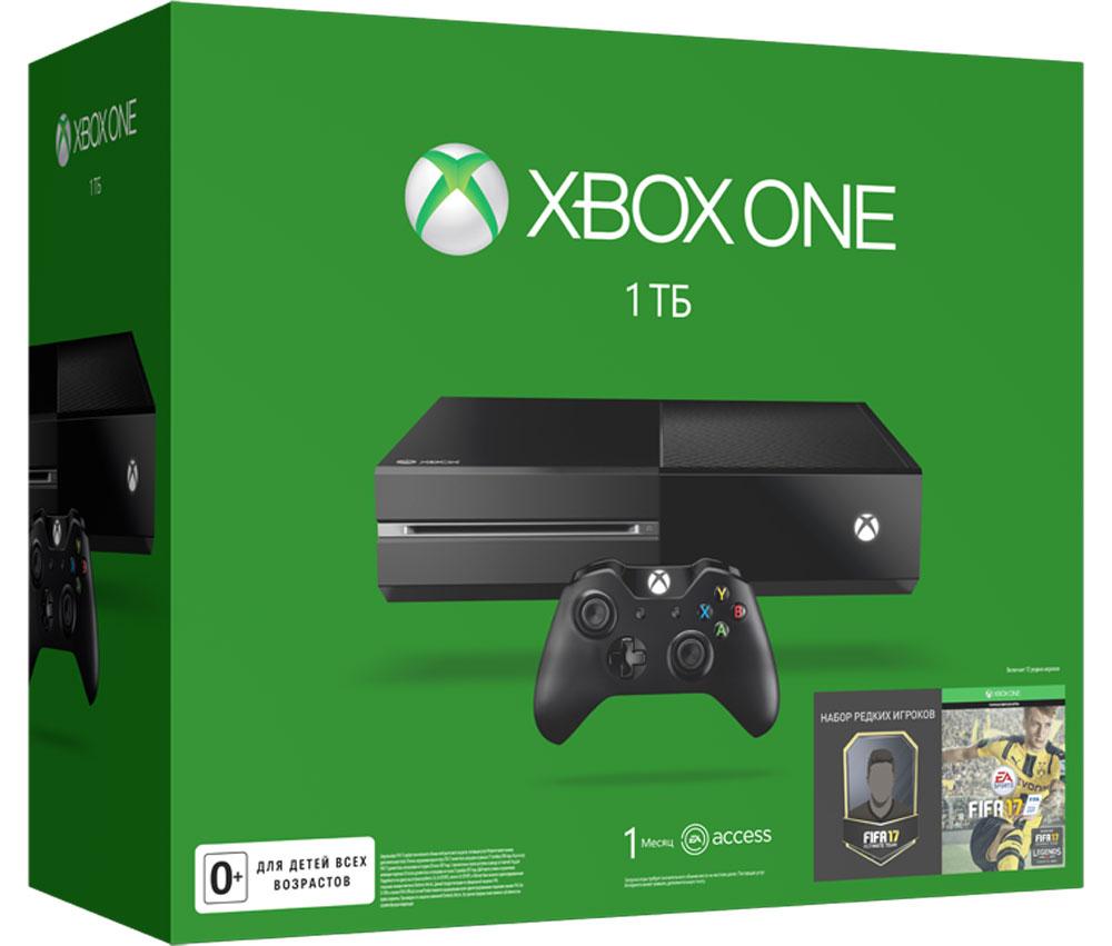 Игровая приставка Xbox One 1 ТБ + FIFA 17GS GAMEKITXbox One - игровая консоль компании Microsoft c лучшими играми и самым продвинутым мультиплеером за всю историю Xbox. Благодаря регулярным обновлениям и улучшениям Xbox One дает больше возможностей в любимых играх. С помощью стриминга можно играть в игры с Xbox One на любом домашнем ПК или планшете с Windows 10. Беспроводной геймпад Xbox One дает бесподобные ощущения, точность и комфорт. Импульсные триггеры обеспечивают вибрационную обратную связь, так что вы почувствуете малейшую тряску и столкновения с высочайшей точностью. Отзывчивые мини-джойстики и усовершенствованная крестовина повышают точность. К стандартному 3,5-мм стереогнезду можно подключить любую совместимую гарнитуру. Геймпад совместим с Xbox One, а также ПК и планшетами с Windows 10. 4 причины купить Xbox One: Лучшая линейка игр в истории Xbox. Играйте в такие эксклюзивы, как Halo 5: Guardians, Forza Motorsport 6, Gears of War: Ultimate Edition и Quantum Break. Приобретите...