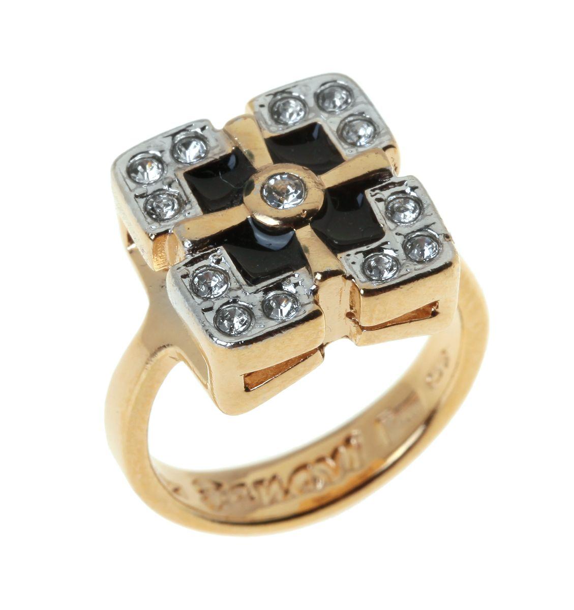 Jenavi, Коллекция Эллада (кольца), Радамера (Кольцо), цвет - золотой, черный, размер - 16. j679q0e6j679q0e6Коллекция Эллада (кольца), Радамера (Кольцо) гипоаллергенный ювелирный сплав,Позолота с родированием, вставка Эмаль , цвет - золотой, черный, размер - 16