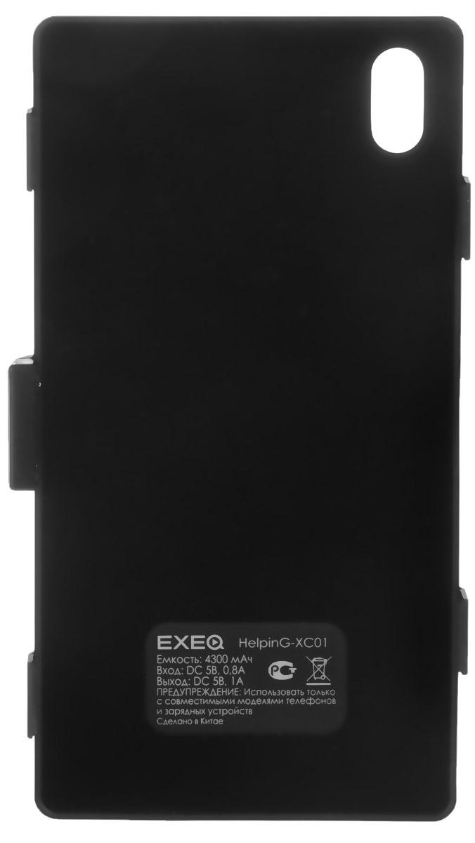 EXEQ HelpinG-XC01 чехол-аккумулятор для Sony Xperia Z1, Black (4300 мАч, клип-кейс)