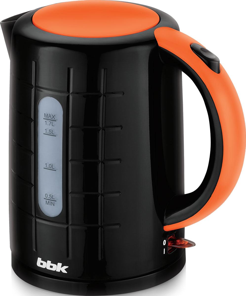 BBK EK1703P, Black Orange электрический чайникEK1703P чер/орЭлектрический чайник BBK EK1703P из термостойкого экологически чистого пластика, мощностью 2200 Bт и емкостью 1,7 литра, - это не просто стильный, но и многофункциональный прибор для вашей кухни. Благодаря английскому контроллеру, установленному в приборе, чайник прослужит в 5 раз дольше обычного, обеспечивая до 15000 закипаний. Модель оснащена многоуровневой защитой: автоматическое отключение при закипании, отключение при недостаточном количестве воды и отключение при снятии чайника с базы. Прибор установлен на удобную подставку с возможностью поворота на 360 градусов и с отделением для хранения шнура. Помимо этого отличительной особенностью является удобный носик для наливания и шкала уровня воды. Съемный фильтр от накипи и скрытый нагревательный элемент гарантированно обеспечат надежность, долговечность и максимально комфортное ежедневное использование.