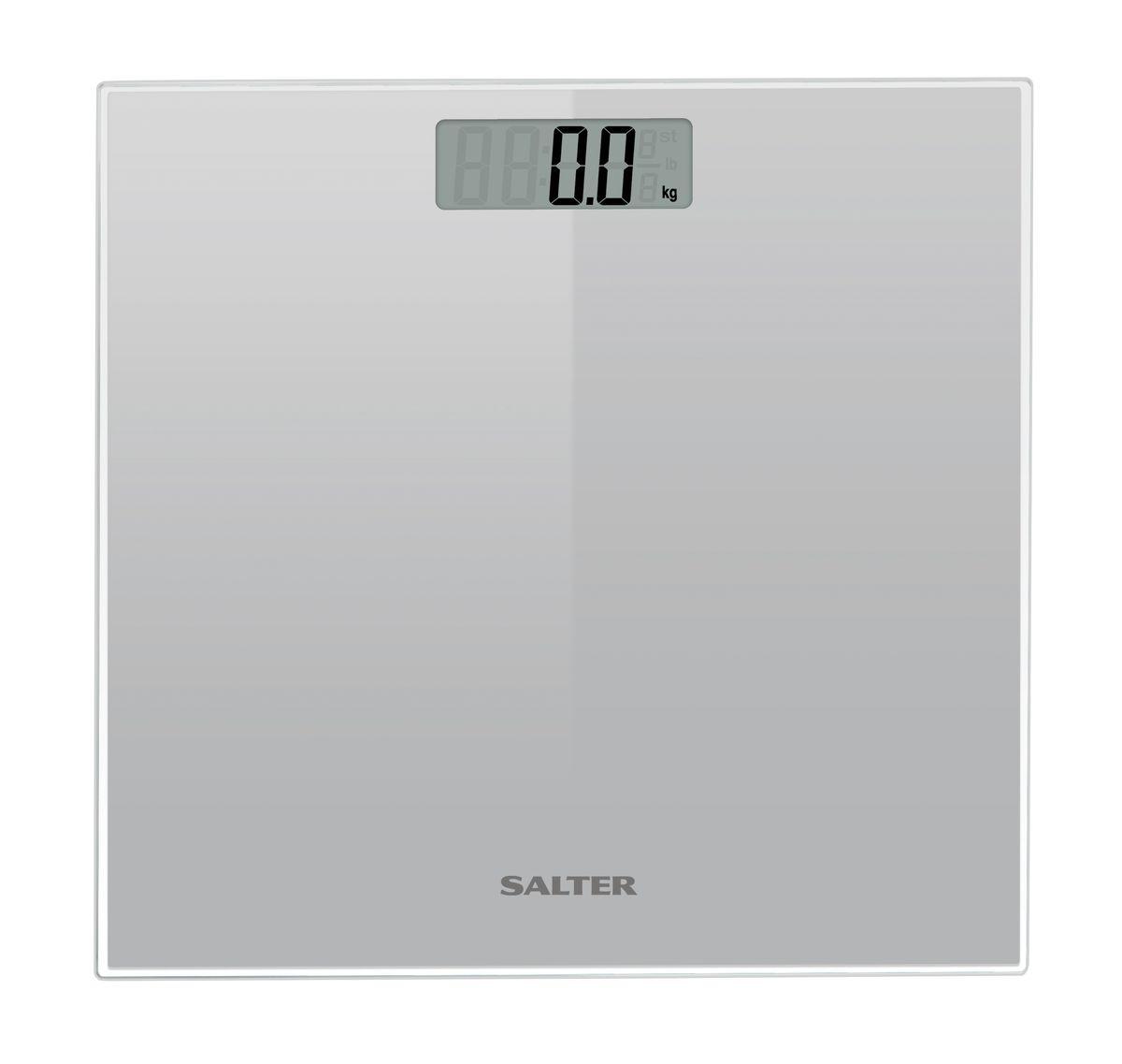Salter 9037 SV3R напольные весы9037 SV3RНапольные весы стильного дизайна Salter 9037 SV3R, сверхтонкая стеклянная платформа с красивой прозрачной рамкой. Компактная конструкция для легкого хранения. Легко читаемый широкий дисплей 79 х 28 мм.