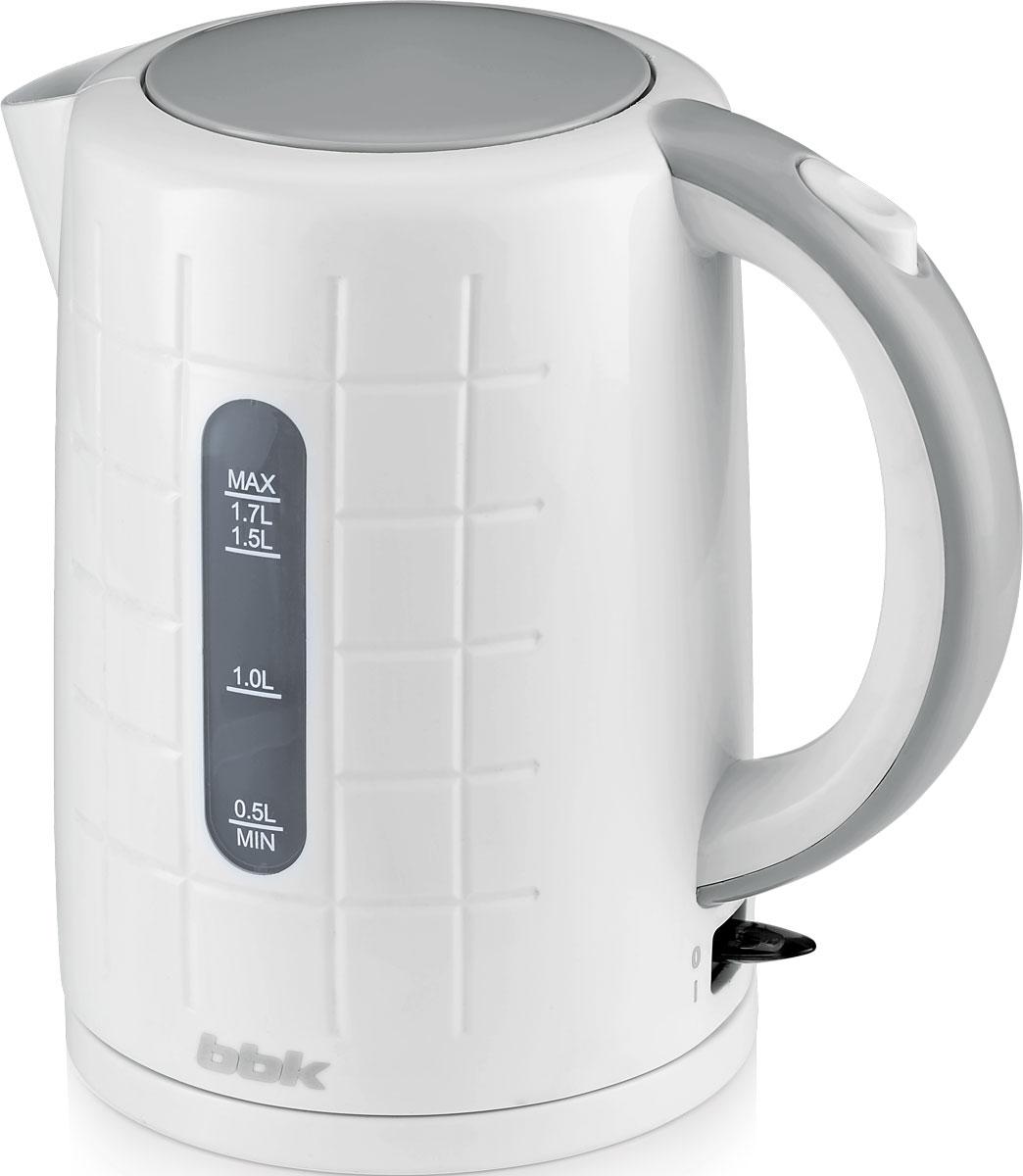 BBK EK1703P, White Metallic электрический чайник