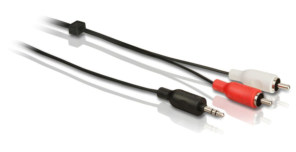 Philips SWA2520W/10 стерео аудиокабель, 3 мSWA2520W/10Стерео аудиокабель Philips SWA2520W/10. · Проводник из сверхчистой меди для надежности передачи сигнала Этот медный проводник обеспечивает высокую точность передачи сигнала с минимальным сопротивлением. · Экранирование неизолированной медью Экранирование неизолированной медью защищает от потери сигнала. · Разъемы, маркированные цветом для быстрого распознавания Разъемы, маркированные разными цветами, облегчают подключение кабелей к необходимым входам и выходам · Нескользящий эргономичный захват для простоты использования Нескользящий захват делает подключение компонентов эргономичным и удобным. · Литой штекер для надежного соединения Литые штекеры обеспечивают надежное соединение компонентов и дополнительную прочность. · Гибкая полихлорвиниловая оболочка Гибкая полихлорвиниловая оболочка обеспечивает защиту сердечника кабеля. Служит также для дополнительной прочности и удобства установки. · Резиновый кабельный зажим Резиновый...