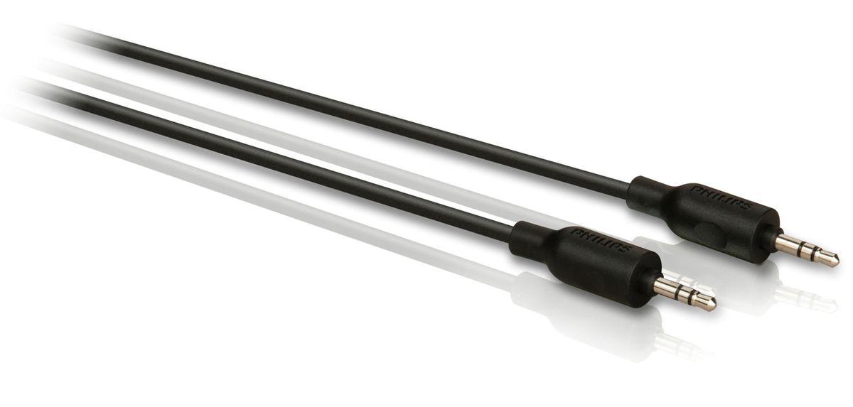 Philips SWA2533W/10 удлинительный кабель для наушников, 3 мSWA2533W/10Литые штекеры кабеля Philips SWA2533W/10 обеспечивают надежное соединение компонентов и дополнительную прочность. Резиновый кабельный зажим обеспечивает безопасное и в то же время гибкое соединение между устройством и разъемом. Нескользящий захват делает подключение компонентов эргономичным и удобным. Гибкая полихлорвиниловая оболочка обеспечивает защиту сердечника кабеля и служит также для дополнительной прочности и удобства установки. Экранирование неизолированной медью защищает от потери сигнала. Этот медный проводник обеспечивает высокую точность передачи сигнала с минимальным сопротивлением.