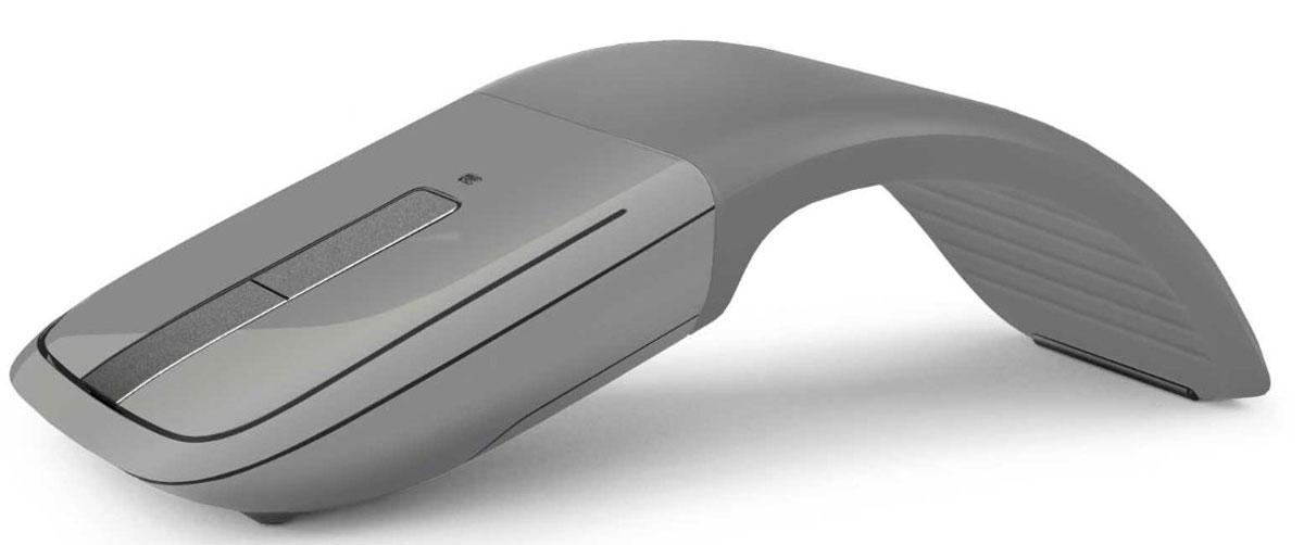 Microsoft ARC Touch Silver Bluetooth, Gray мышь7MP-00015Отмеченный наградой дизайн Arc Touch Mouse стал еще лучше для работающих в поездке. В него добавлено низкое энергопотребление, ставшее возможным благодаря Bluetooth 4.0. Это надежная мышь, работающая без помех на расстоянии до 9 метров. В ней используется новейшая технология Bluetooth, потребляющая меньше энергии. И, как и оригинальная, мышь Arc Touch Bluetooth Mouse сгибается для включения и становится плоской для выключения. Комфортная и переносная, принимающая форму вашей руки, она идеально подходит для мобильного образа жизни. Сенсорная полоска точно отвечает на скорость движения пальца, используя тактильную обратную связь для вертикальной прокрутки. Bluetrack Technology сочетает мощность оптического датчика с точностью лазерного. Это обеспечивает идеальное позиционирование мыши практически на любой поверхности. Благодаря BlueTrack Technology эта мышь может использоваться даже на деревянной поверхности или ковре. ...