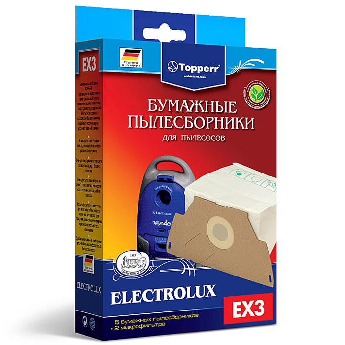 Topperr EX 3 фильтр для пылесосов Electrolux, 5 шт